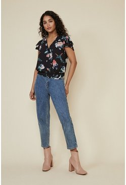 Multi Kiera Floral Wrap Blouse