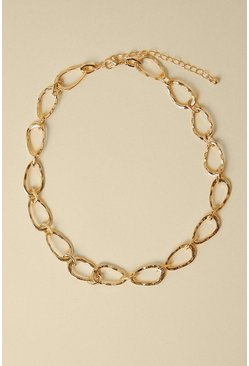 Gold Chain Link Short Necklace