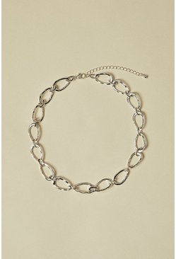 Silver Chain Link Short Necklace