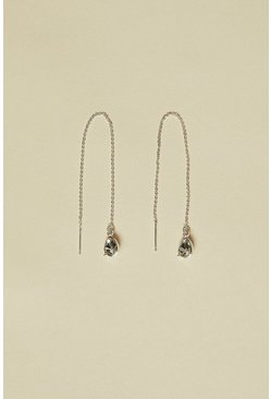 Silver Pull Through Sparkle Earrings