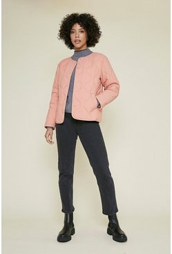 Pink Short Quilted Jacket