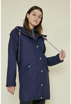 Navy Pocket Detail Parka