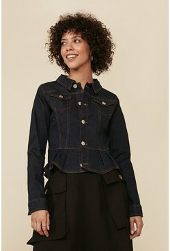 Rinse Frill Detail Denim Jacket