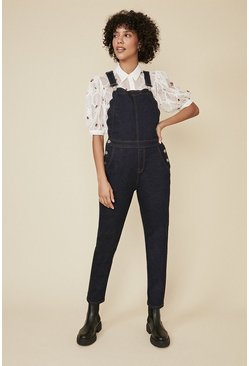 Rinse Scallop Detail Dungarees