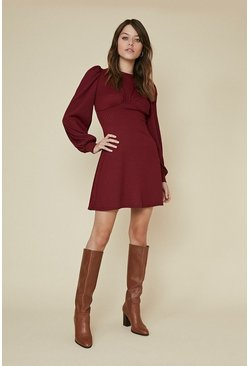 Berry Shaped Jersey Flippy Dress