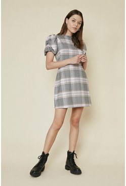 Multi Check Dress