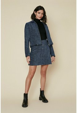 Multi Tweed Mini Skirt
