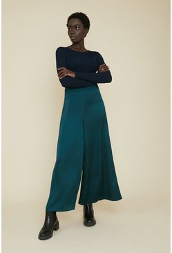 Green Scattered Spot Wide Leg Trouser
