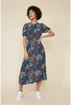 Multi Ditsy Print Tea Dress