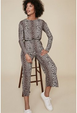 Animal Slash Neck Jumpsuit