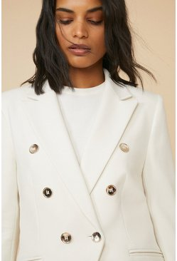 Ivory Premium Tailored Military Blazer
