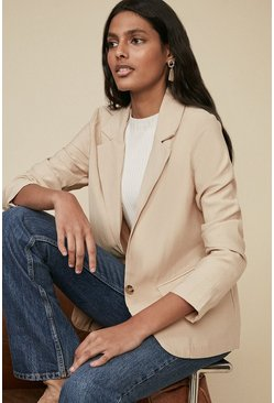 Stone Tailored Linen Look Jacket