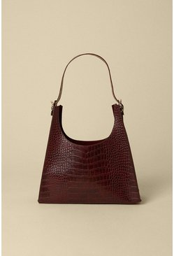 Wine Croc Detail Scooped Tote Bag