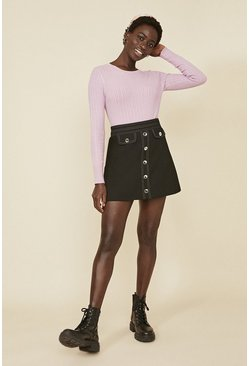 Lilac Cable Stitch Crew Jumper
