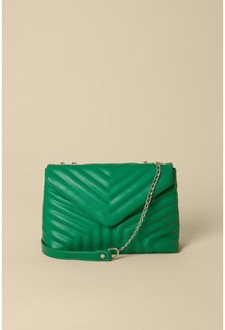 Bright green Quilted Chain Strap Bag