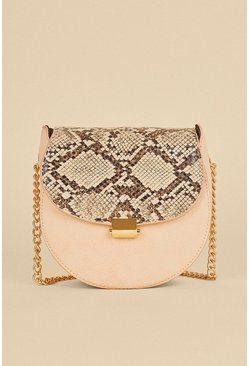 Contrast Snake Cross Body Bag