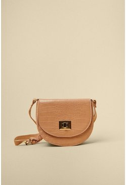 Blush Croc Cross Body Bag