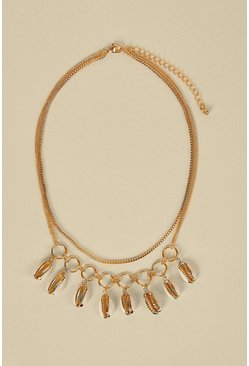 Gold Shell Layered Necklace