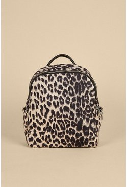 Nude Animal Print Backpack