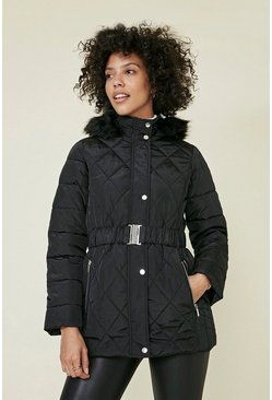 Black Short Luxe Padded Coat