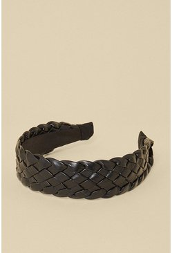 Black Quilted Detail Headband