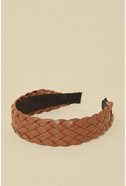 Brown Quilted Detail Headband