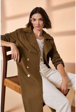 Khaki Button Front Mac