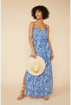 Bright blue Strappy Maxi Dress