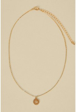 Gold Ring Detail Necklace