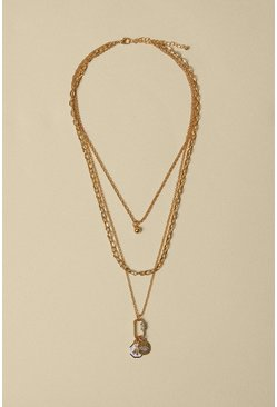 Gold Pave Layered Necklace