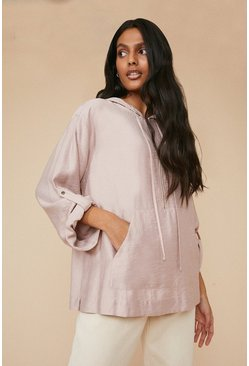Dusky pink Relaxed Linen Look Jacket