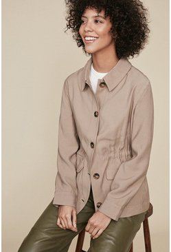 Natural Zip Detail Jacket