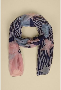 Navy Animal Star Lightweight Scarf