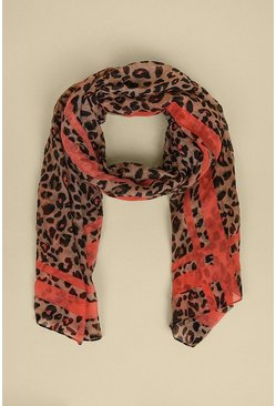 Colour Pop Animal Lightweight Scarf