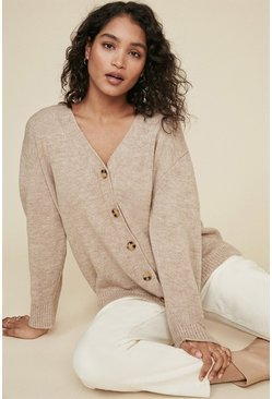 Camel Cosy Slouch Cardigan