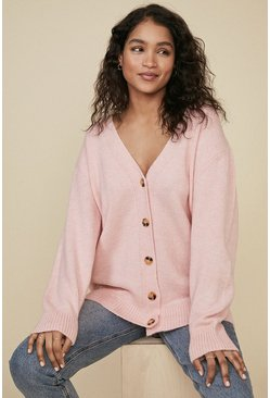 Pale pink Cosy Slouch Cardigan