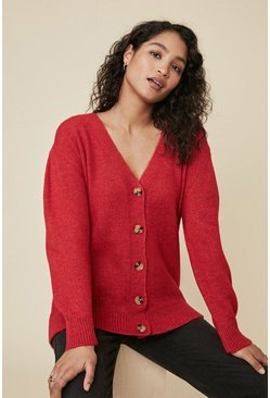 Red Cosy Slouch Cardigan