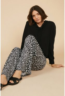 Blackwhite Animal Lounge Wide Leg