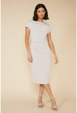 Grey Cap Sleeve Dress