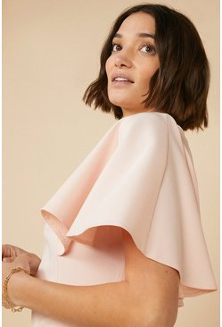 Blush Midi Cape Dress