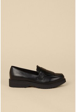 Black Chunky Tassel Fringed Loafer