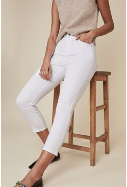 White Grace Cropped Jean