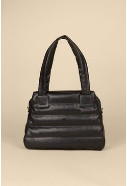 Black Quilted Day Bag