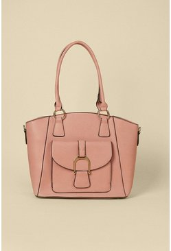 Pink Curved Edge Tote Bag