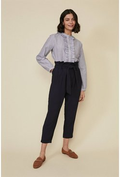 Blue Stripe Frill Detail Shirt