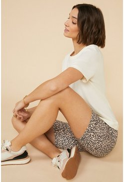 Recycled Animal Print Cycling Short