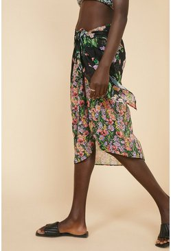 Multi Trailing Floral Sarong