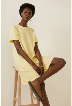 Lemon Organic Cotton Trapeze T Shirt Dress