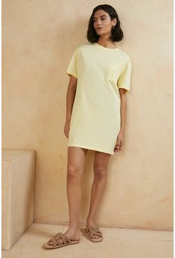 Lemon Organic Cotton T Shirt Dress