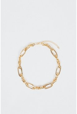 Gold Chunky Chain Statement Necklace